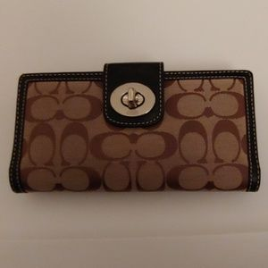 Coach Signature Checkbook Wallet